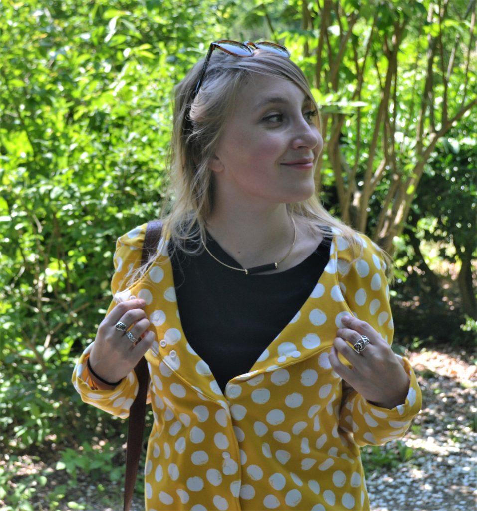 Cardigan Bergen Anne Kerdiles couture patron devant