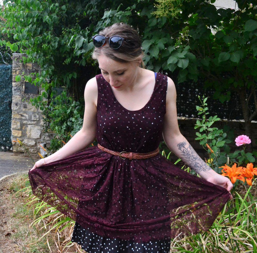 robe lucie rdc tissu deux épaisseurs