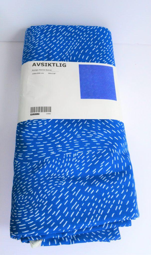 tissu ikea bleu