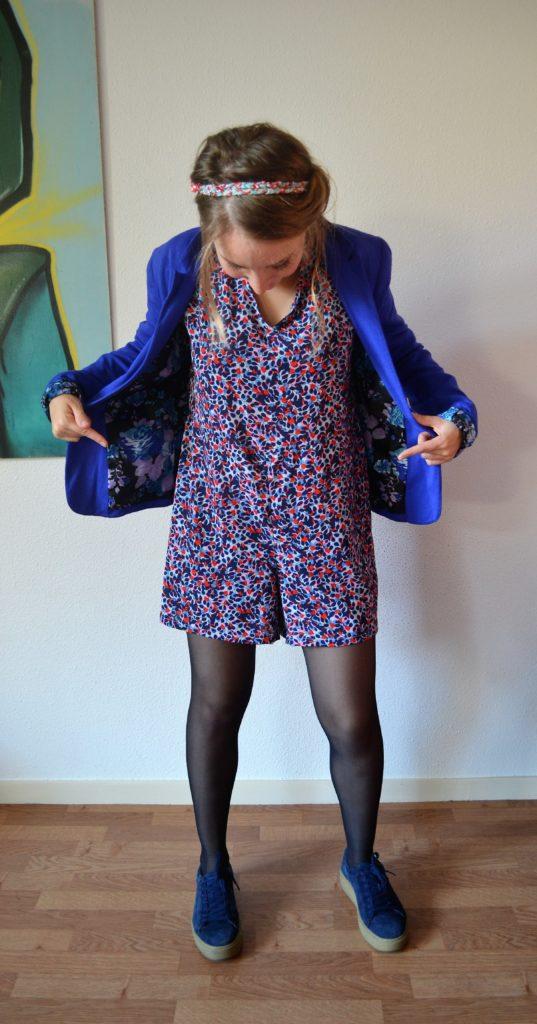 Combishort Jazz de Ready To Sew en entier avec la veste