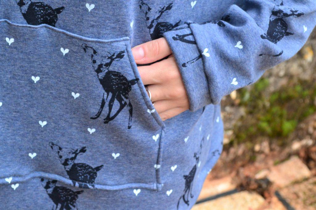 Sweat jkommatia pattern détails poche