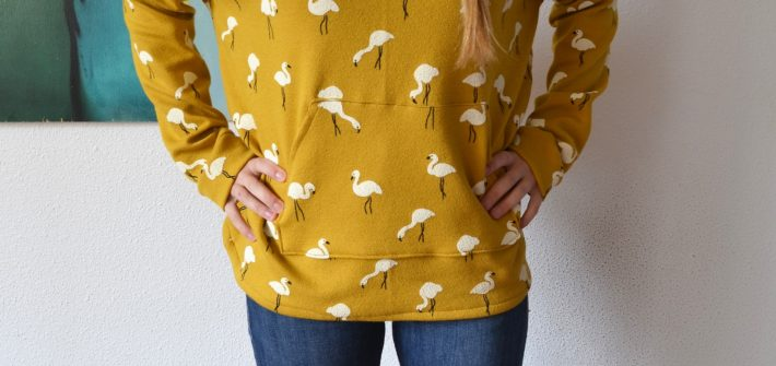 Sweat Kommatia Pattern jaune