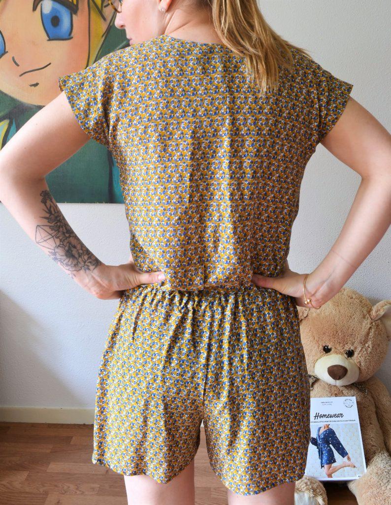 Combishort Maja livre homewear