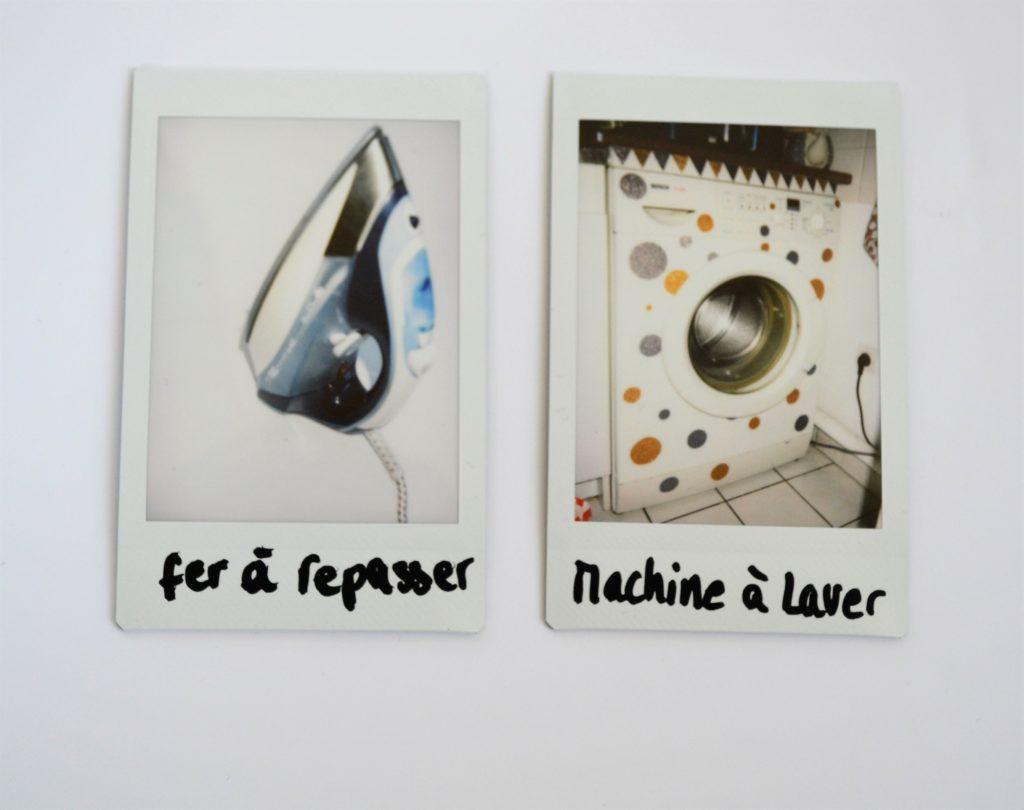 DIY tee shirt tampons polaroid